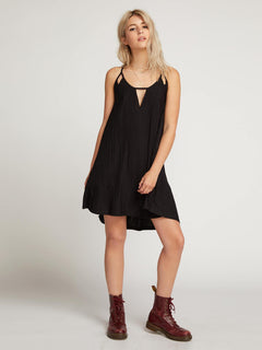 Back 2 Mentality Dress  - Black