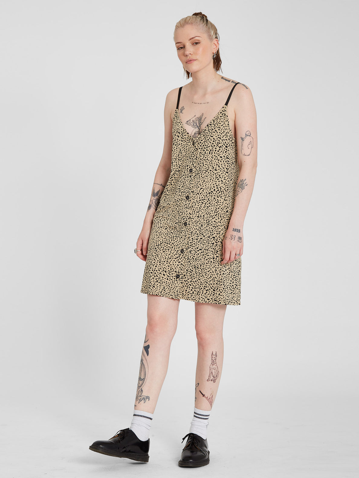 High Wired Cami Dress - Animal Print (B1312113_ANM) [B]