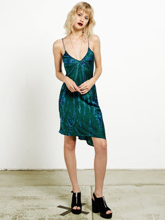 GMJ Slip Dress - Midnight Green