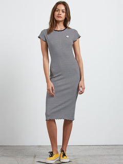 Colder Sholder Dre Dress - Black Combo