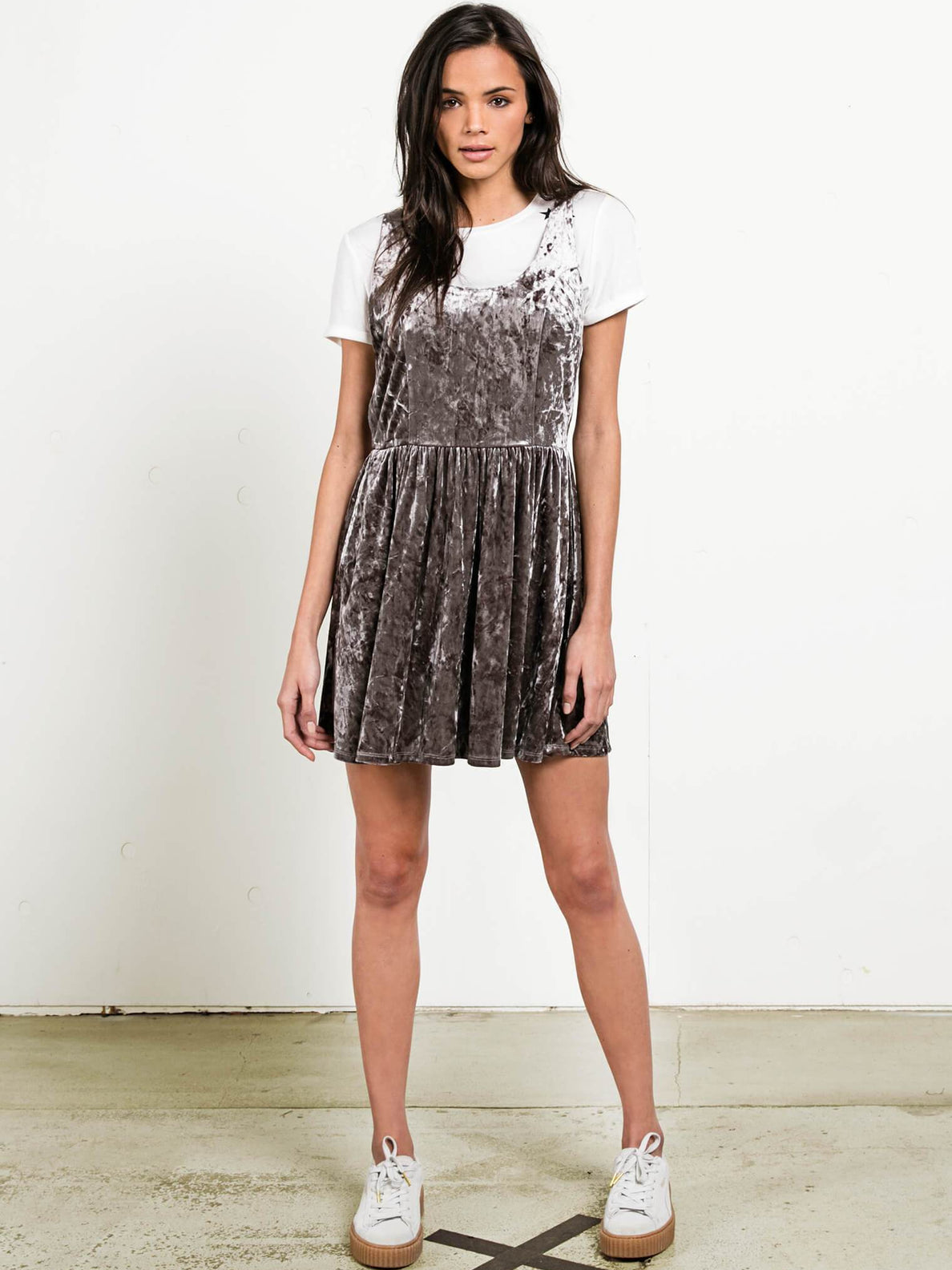 GMJ Skater Dress - Gunmetal Grey