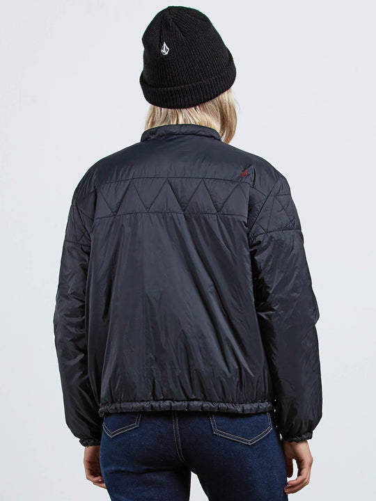 Play The Fool Puffa Jacket - Black