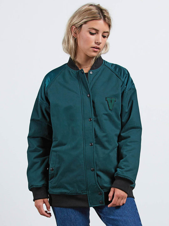 Not Half Bomber Jacket - Evergreen