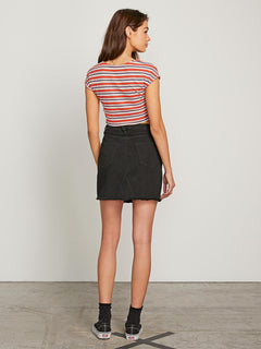 Stoned Mini Skirt - Black