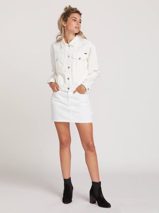 Fix It Denim Jacket  - White