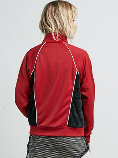 True To Track Jacket - Chili Red
