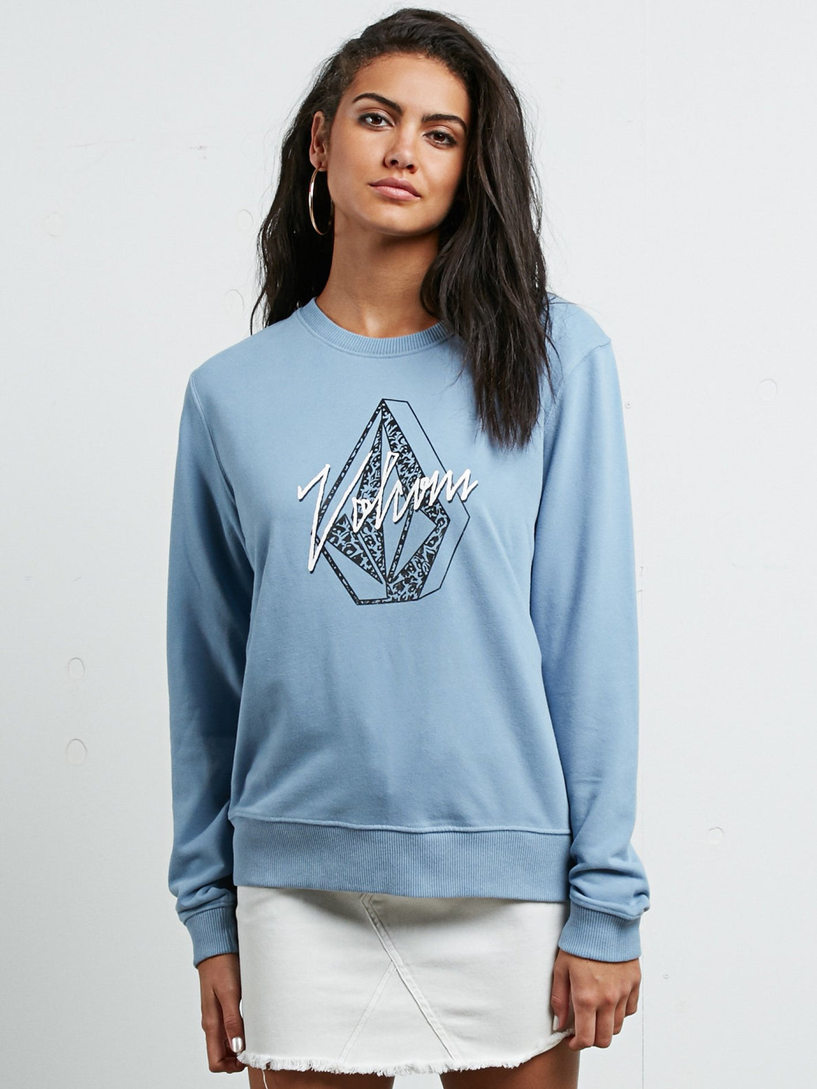 Sound Check Fleece Sweatshirt - Washed Blue
