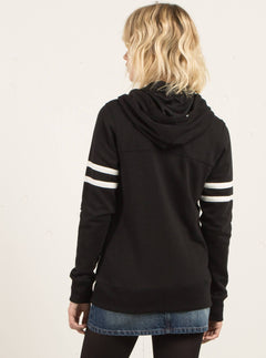 Past Is Past Zip Hoody - Black