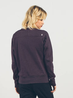 WALK ON BY CREW NECK PLUM