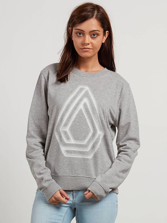 Sound Check Fleece Sweater - Heather Grey