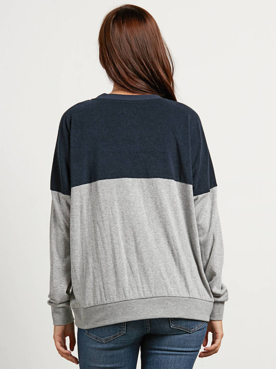 Blocking Sweater - Sea Navy