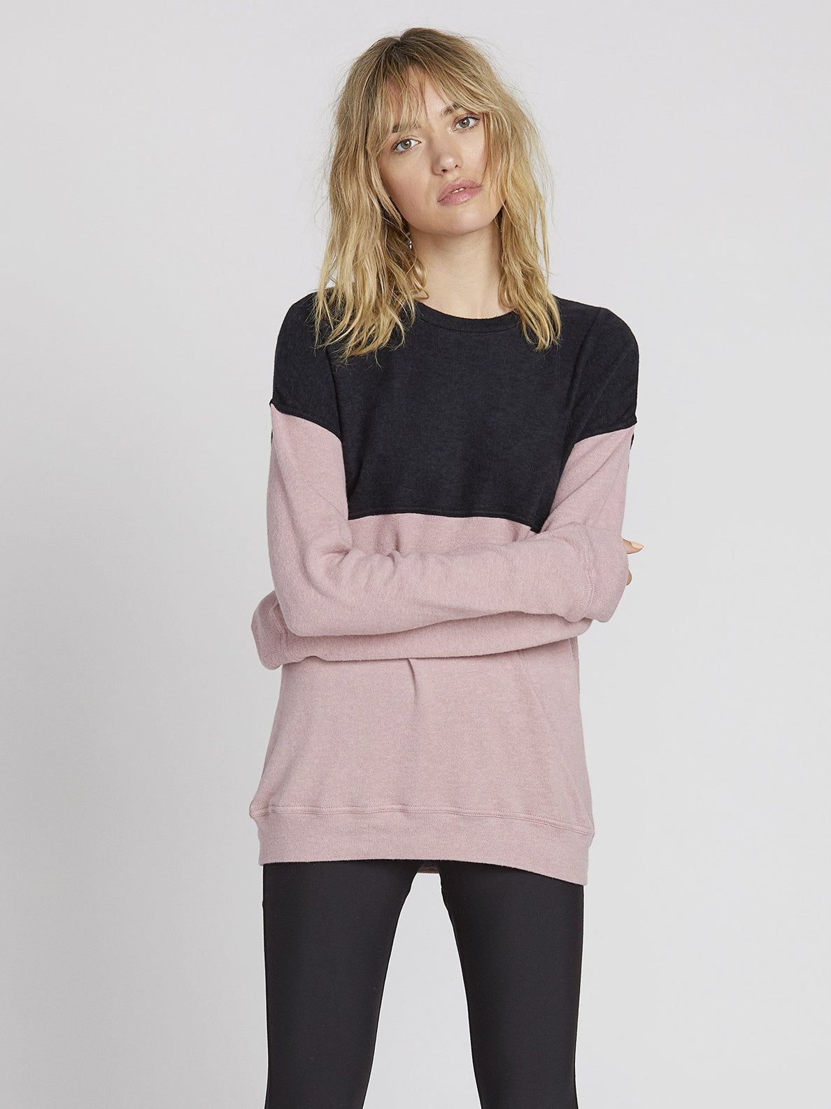 Lil Crew Sweater - Faded Mauve (B3131900_FMV) [1]