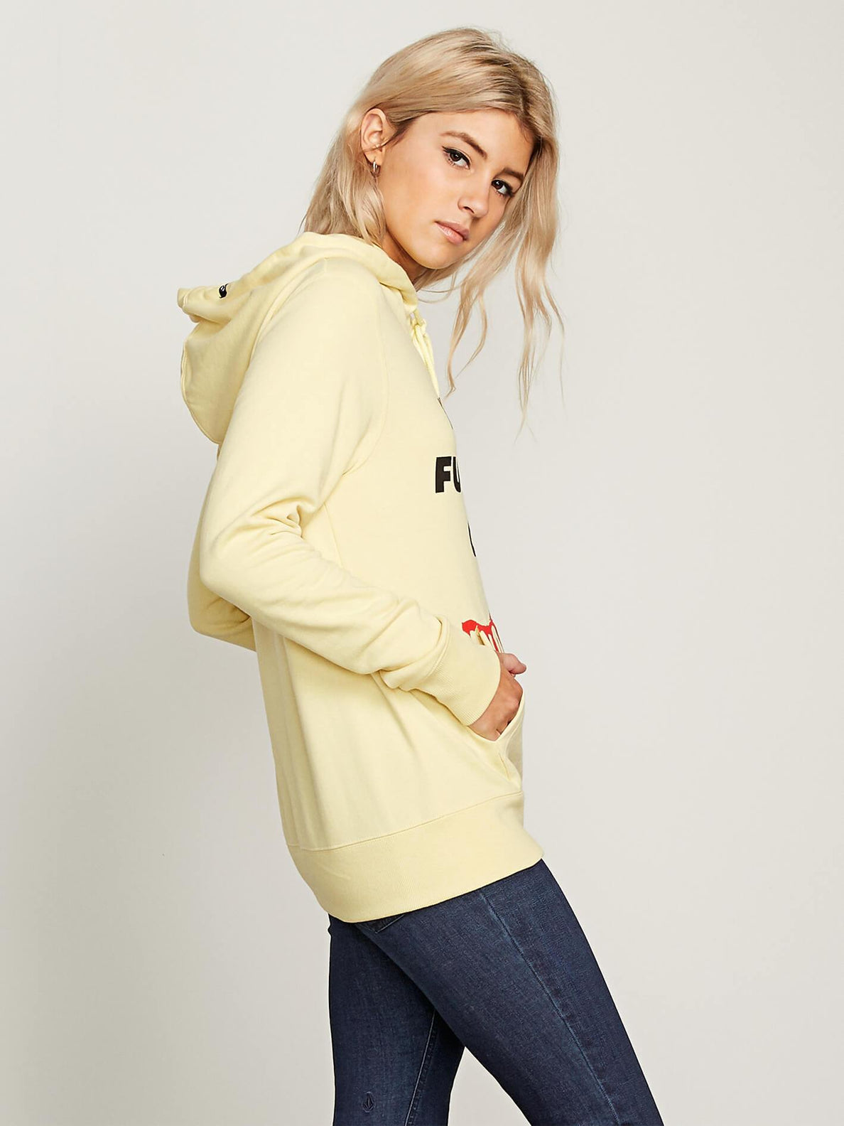 Vol Stone Hoodie - Faded Yellow