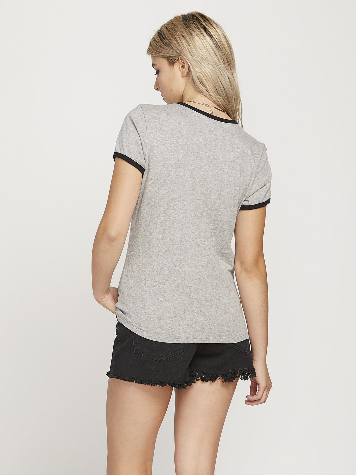Keep Goin Ringer T-shirt  - Heather Grey