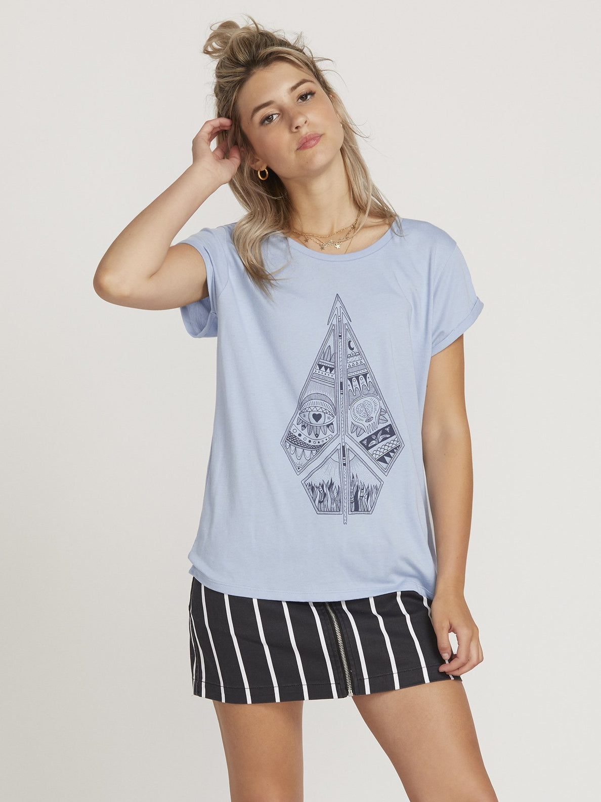Radical Daze T-shirt  - Misty Blue