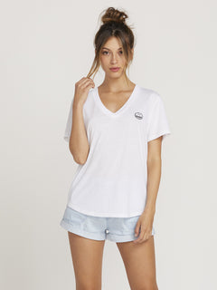 Volneck T-shirt  - White