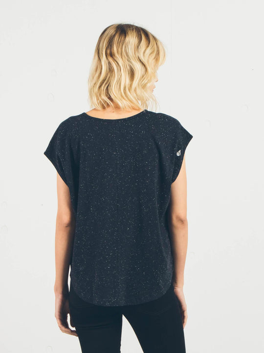 Simply Solid Crop Top - Black