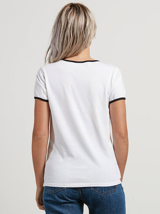 Keep Goin Ringer T-Shirt - White