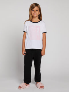 Big GIrls Hey Slims Tee - White