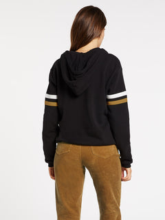 COLOR CODED HOODIE (B4132001_BLK) [B]