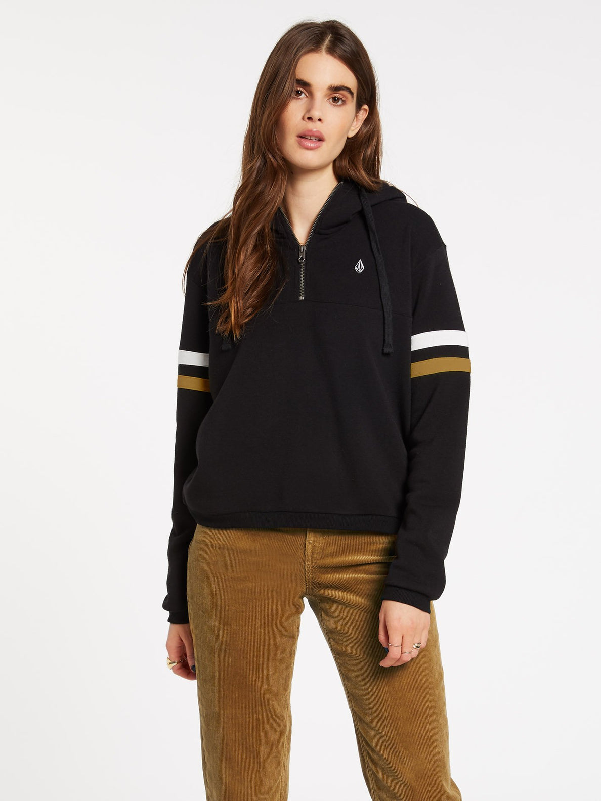 COLOR CODED HOODIE (B4132001_BLK) [F]