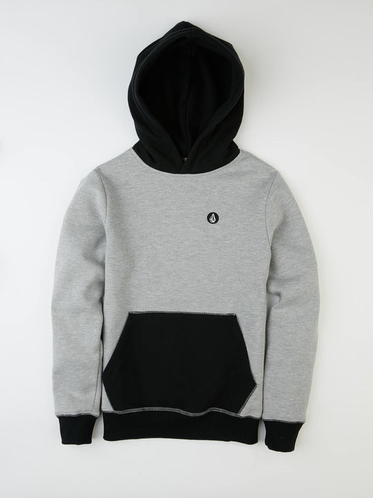 Single Stone Division Hooded Pullover - Grey