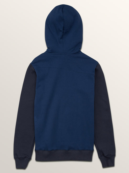 Single Stone Colorblock Zip Sweaters - Matured Blue