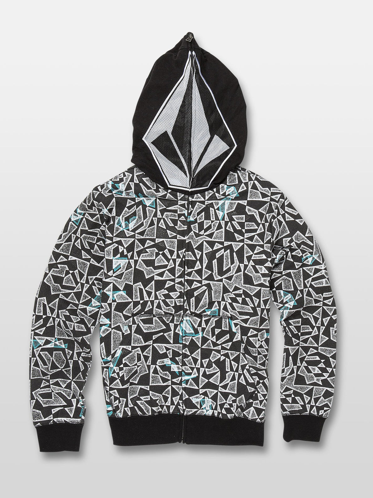 Cool Stone Full Zip Hoodie - Black/White (C4831932_BWH) [1]