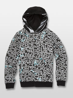 Cool Stone Full Zip Hoodie - Black/White (C4831932_BWH) [F]