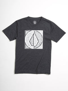 Stamp Divide T-shirt (Kids) - Heather Black