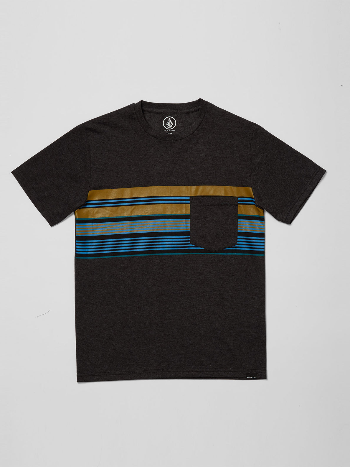 Line Stack T-shirt - Heather Black (C5712112_HBK) [F]