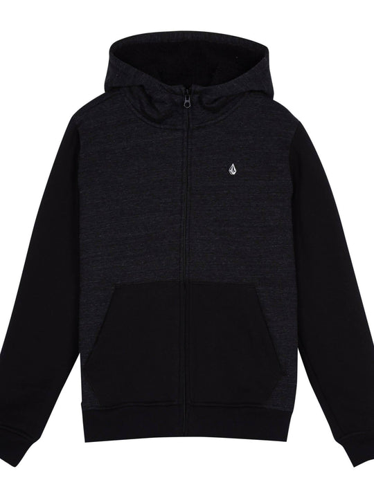 Single Stone Lined Zip Sweaters - Sulfur Black