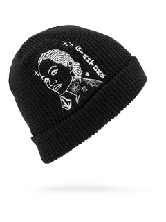 Mike Giant Beanie - Black (D5831902_BLK) [F]