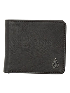 Slim Stone Pu Wallet - Black