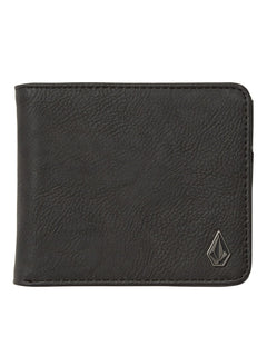 Slim Stone L Wallet - Black
