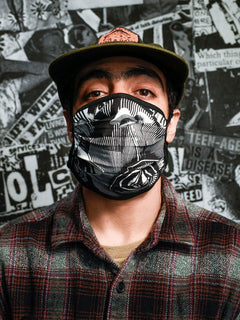 Volcom Assorted Face Mask - White Black (Pre-Order) (D6702008_WHB) [B]