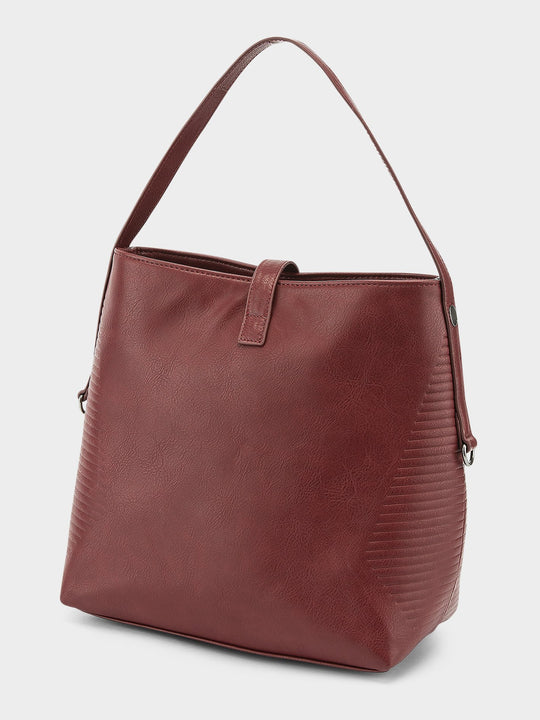 Line Bucket Bag  - Bark Brown