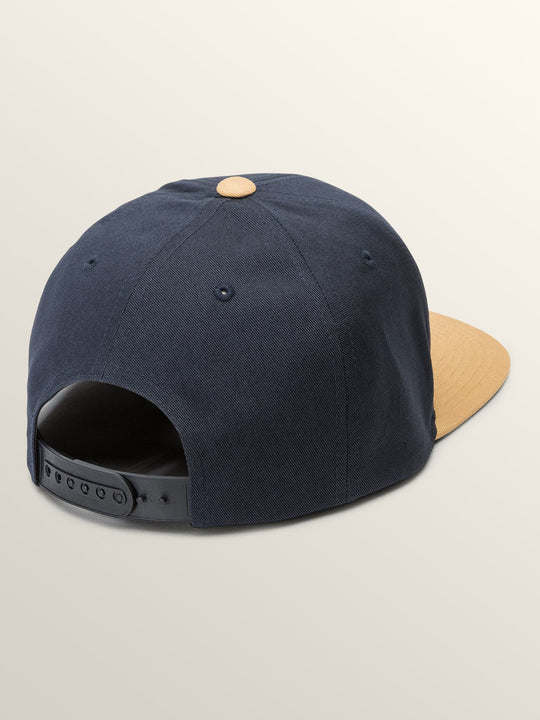 Quarter Snapback Beanie - Midnight Blue