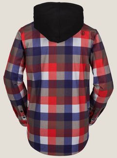 Field Bonded Flannel - Fire Red