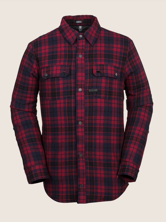 Sherpa Flannel Jacket - Red