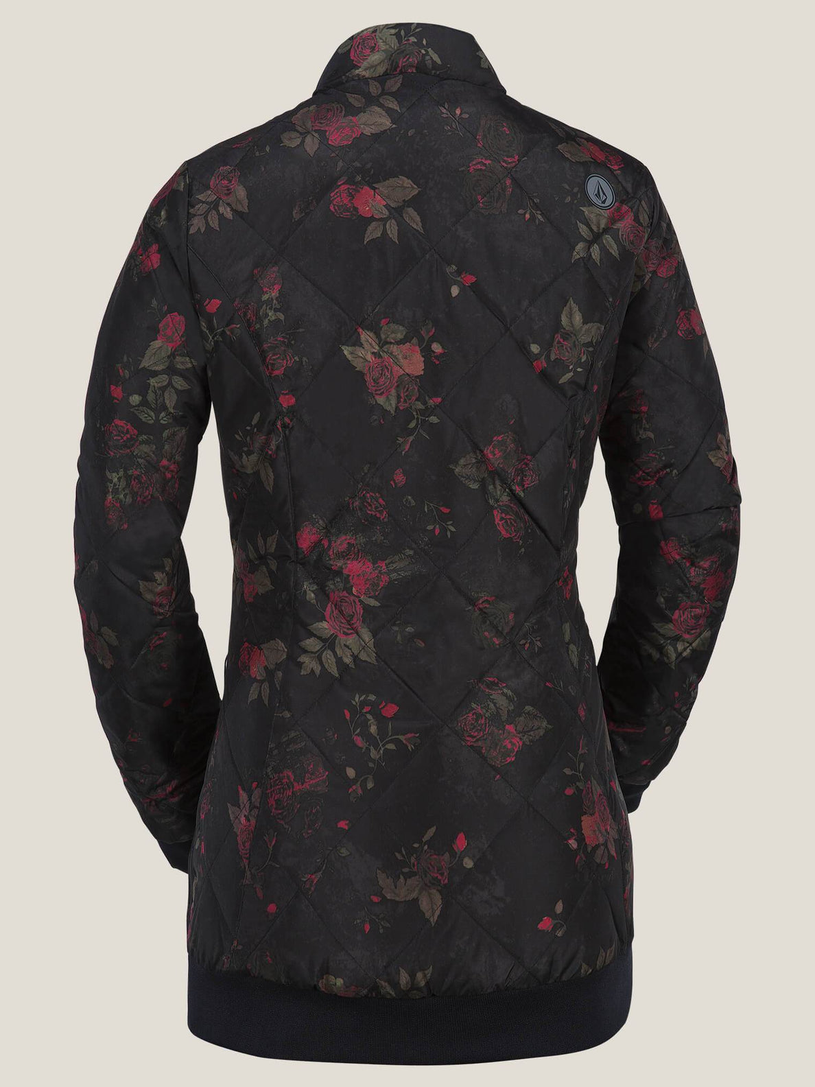 Casco Down Puff Jacket - Black Floral Print
