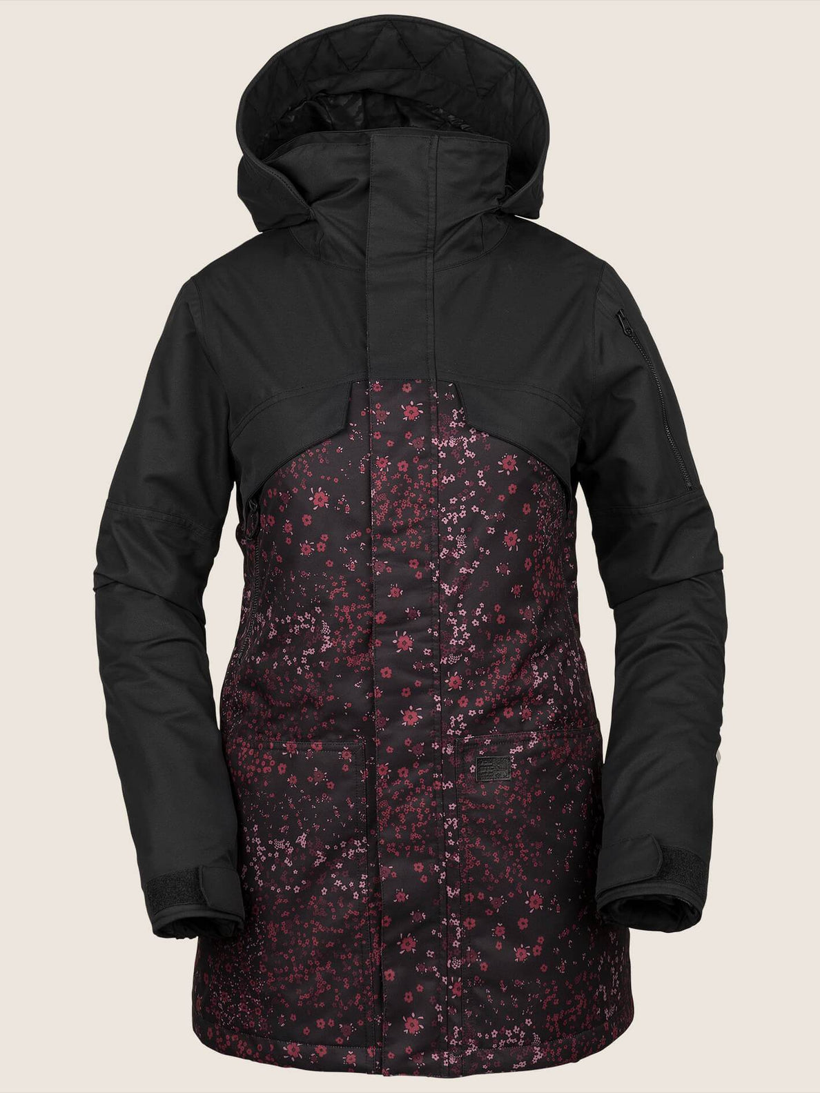 Vault 3-In-1 Jacket - Black Floral Print