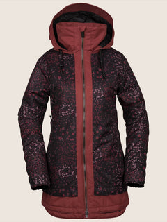 Westland Insulated Jacket - Black Floral Print