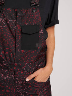 Swift Bib Overall - Black Floral Print