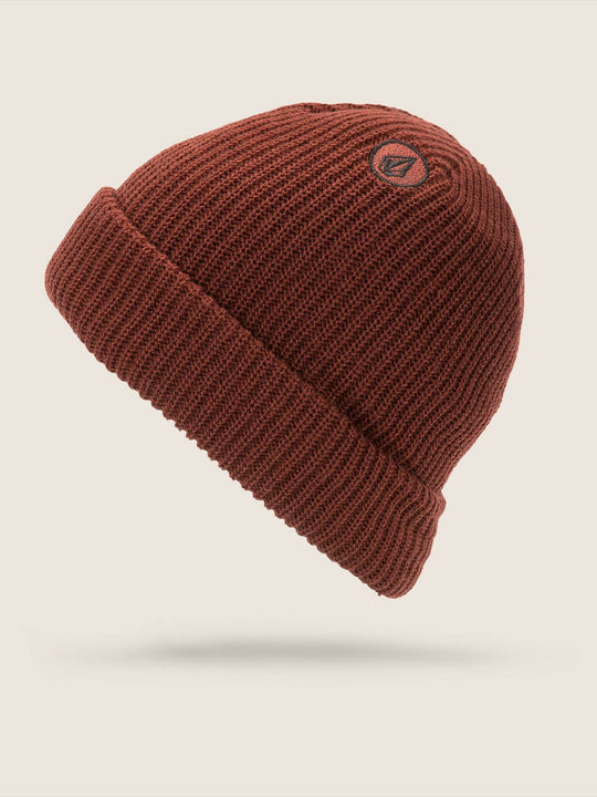 Sweep Lined Beanie - Burnt Red