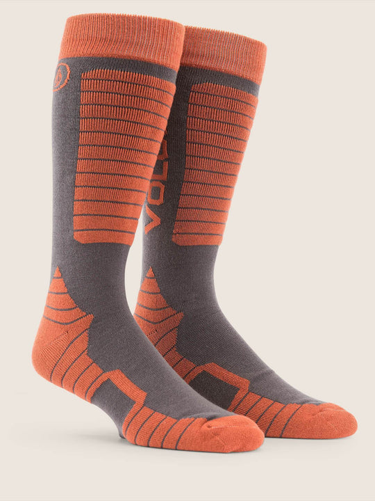 Kootney Sock - Burnt Orange