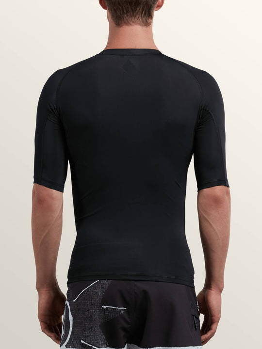 Lido Solid Short Sleeve Rashguard - Black