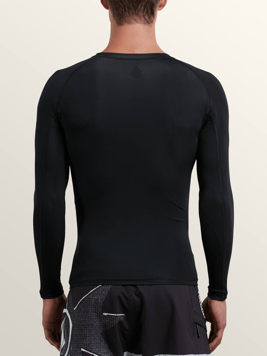 Lido Solid Long Sleeve Rashguard - Black