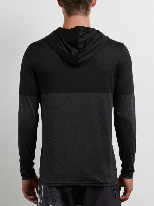 Lido Heather Block Long Sleeve  - Charcoal Heather