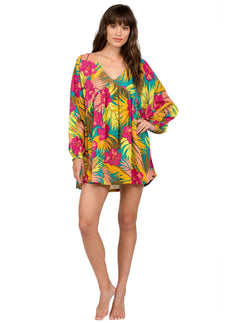 Hot Tropic Kaftan - Teal